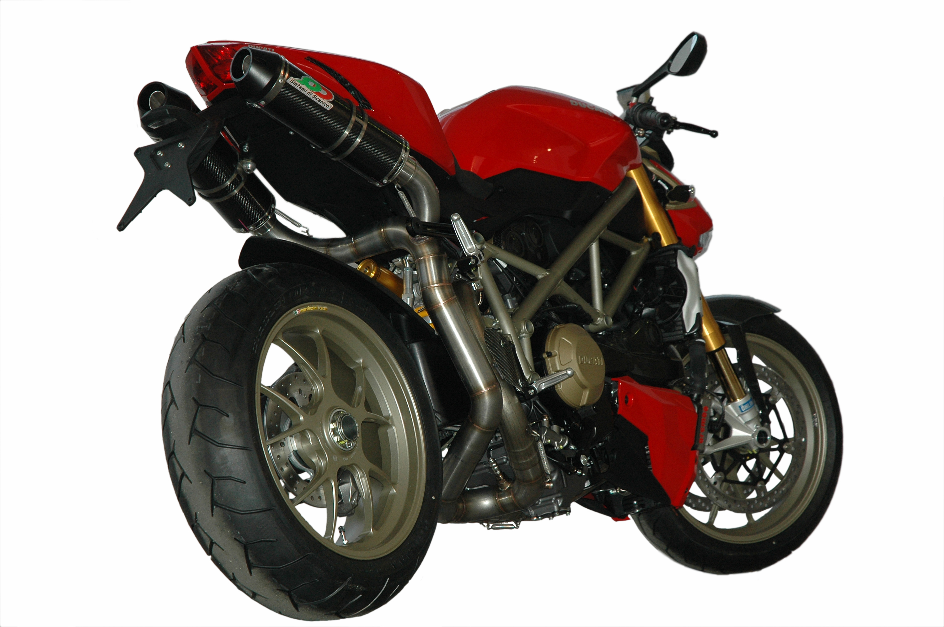 Ducati Streetfighter 848 1098, full exhaust system underseat mufflers - QD Exhaust